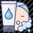 cleanser, cream, face, facial icon