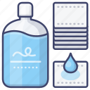 cotton, makeup, remover, wipes icon