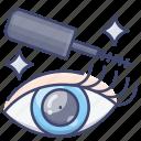 eye, liner, makeup, mascara icon