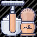 beard, razor, set, shaving icon