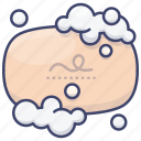 bubbles, cleaning, soap, wash icon