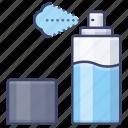 beauty, bottle, spray, waterproof icon