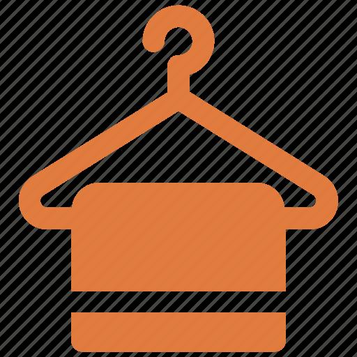 clothes hanger, hotel, towelicon icon