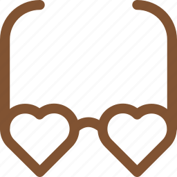 fashion, glasses, heart, love icon, new style, style icon