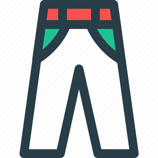 jeans, pant, trouser, wearicon icon