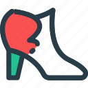 boot, fashion, high, sandals, shoes icon icon