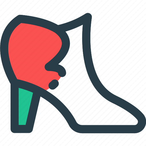 boot, fashion, high, sandals, shoesicon icon