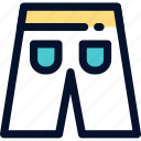 jeans, man, panties, pants, short, summer icon icon