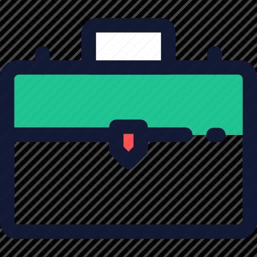 brief case, briefcase, business, portfolio, suitcase, work, workcaseicon icon