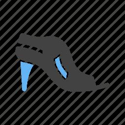 fashion, heel, high, sandals, shoes, stylish, woman icon