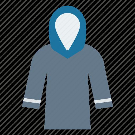 cloth, dress, fashion, hood, wear icon