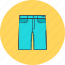 clothes, clothing, denim, fashion, shopping, shorts, tie icon