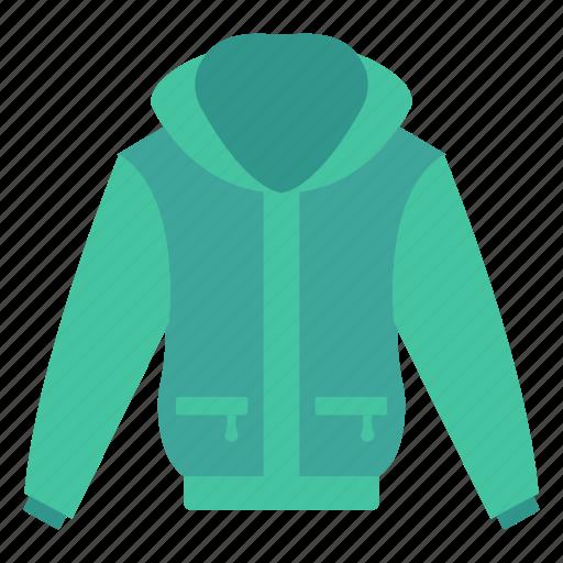 cloth, coat, fashion, hood, wear icon