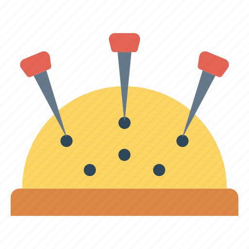 needles, pin, sewing, tailor, thread icon