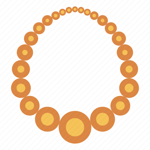 gold, jewel, locket, necklace, pearl icon