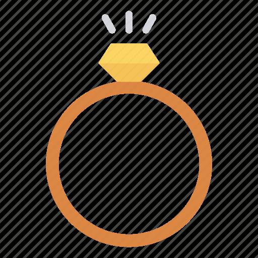 diamond, engagement, jewel, pearl, ring icon