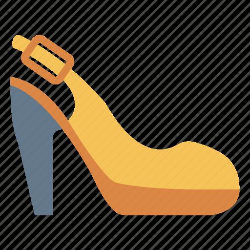 fashion, footwear, heel, sandal, women icon