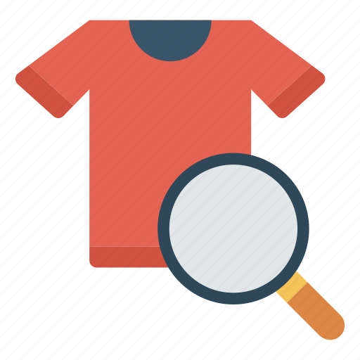 cloth, dress, magnifier, search, shirt icon