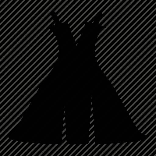 dress, fashion, wear, wedding icon