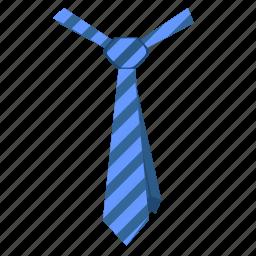 code, dress, fashion, striped, tie icon