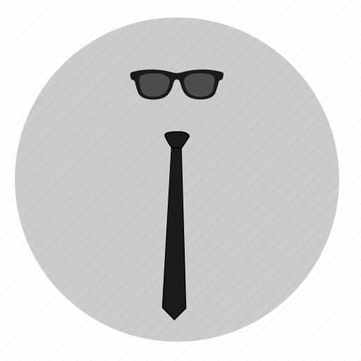 code, dress, glasses, style, tie, wear icon