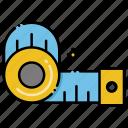 measuring, tape, measure