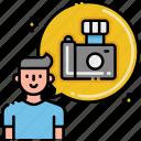 photographer, male, man