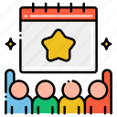 public, event, schedule, people