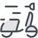 delivery, courier, food, fast, scooter, online, shipping icon