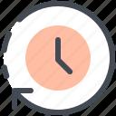 delivery, clocks, timer, watch, circular, arrows, clock icon
