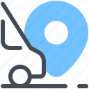 courier, delivery, fast, minibus, shipping, location, pin icon