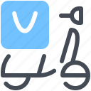 bag, courier, delivery, food, shipping, scooter, thermal icon