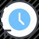 time, clocks, arrows, circular, clock, watch, timer icon
