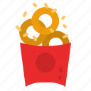 fast, rings, snack, onion, food icon