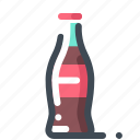 bottle, coca cola, drink, glass, soda icon