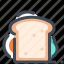 bread, fast food, food, sandwich, street food, vegetable, vegetarian icon