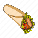cooking, fast food, food, restaurant, roll, stuffing icon