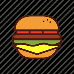 burger, cheeseburger, fast, food, hamburger icon