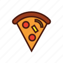 fast, food, italian, pepperoni, pizza, slice icon