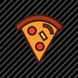 fast, food, italian, pepperoni, pizza, slice icon