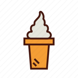 cone, cream, fast, food, ice, sundae icon
