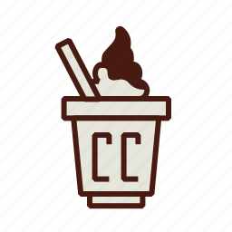 dessert, fast, food, fudge, hot, ice cream, sundae icon