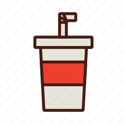 beverage, cup, drink, fast, food, soda icon