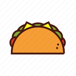bell, fast, food, mexican, taco icon