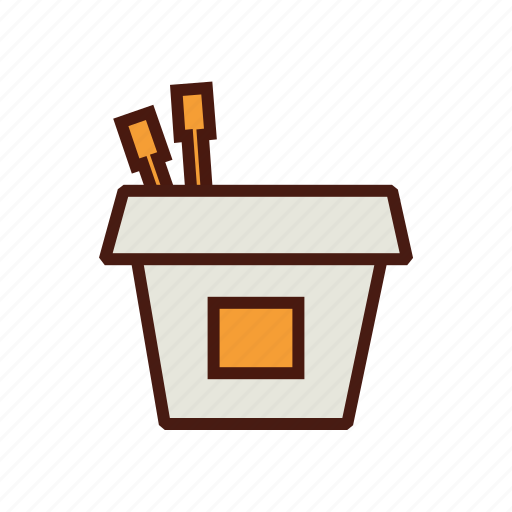 box, chinese, chopstick, fast, food, take out icon
