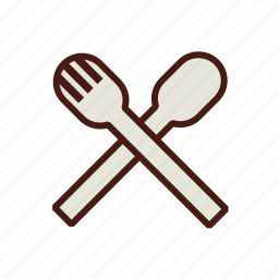 cutlery, fast, food, fork, plastic, spoon, utensils icon