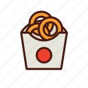 fast, food, onion, rings icon