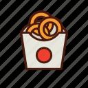 fast, food, onion, rings