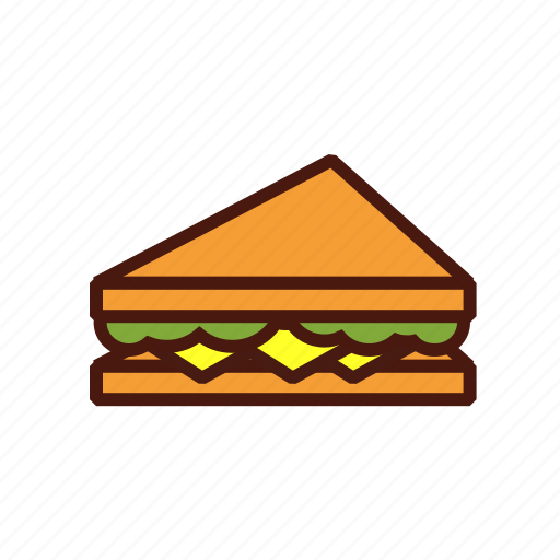 fast, food, half, sandwich, triangle icon