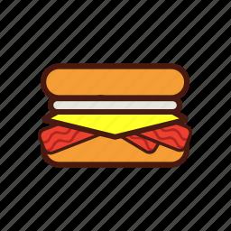 breakfast, fast, food, mcmuffin, sandwich, sausage icon